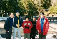 ...in the puffy red jacket on the right